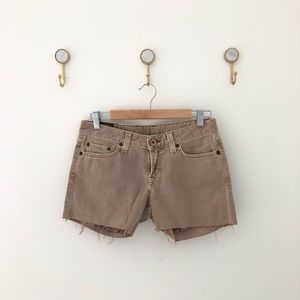 LUCKY BRAND jean shorts tan denim sz 4/27